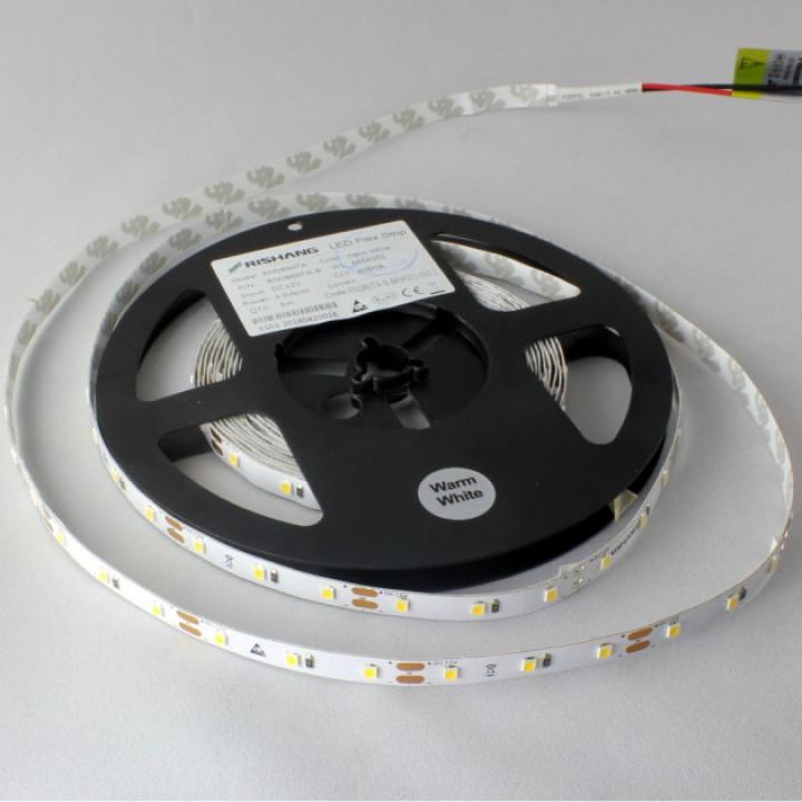 Стрічка світлодіодна SMD 2835,60d/m,5.5W/m,4000K,IP33,нейтральна біла(2835NW60 Rishang) RN0860TA-B