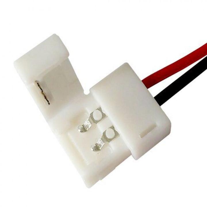 Конектор для світлод. стрічок BIOM, OEM SC-06-SW-10-2, 10mm, joint wire (дріт- затискач)