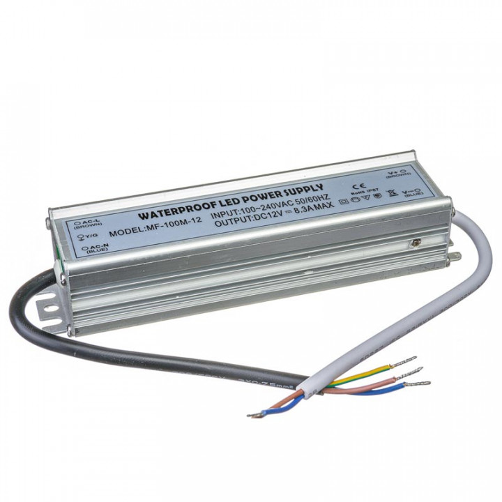 Блок живлення герметичний MF-100-12, 12V, 8,3A  1013356