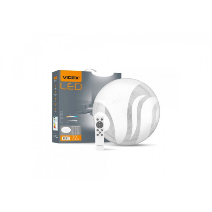 Світильник світлодіодний Videx Функціональний Круглий WAVE 72W 2800-6200K IP44,з пультом 220V 298733