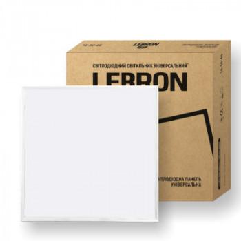 Світильник світлодіодний LEBRON L-LPU, 40W, унів., 595*595, 6200K, 3200Lm, 16-50-43,