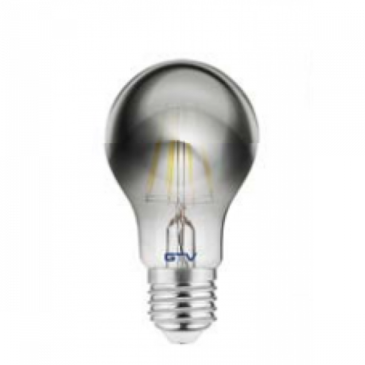 Лампа світлодіодна GTV FILAMENT A60, 8W, 480Lm, E27, AC220-240V, 2700K