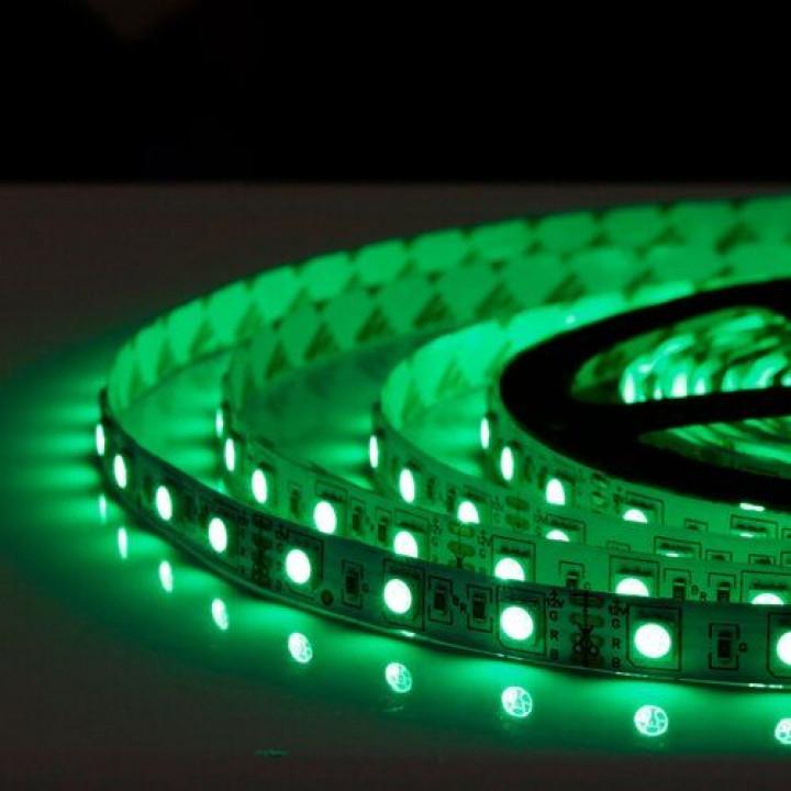 Стрічка світлодіодна SMD 5050, 60d/m, 14.4W/m, 720lm/m, IP20, зелена (5050G60)