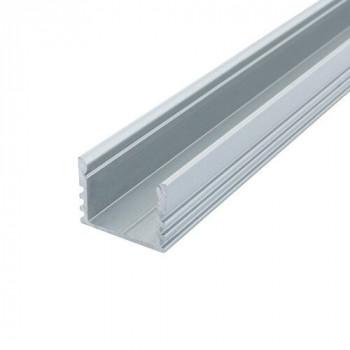 Профіль алюмінієвий Biom для LED стрічки накладний ЛП12, АНОД  ПФ-21/1 1016259