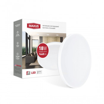 Світильник світлодіодний Maxus Ceiling light 1-MCL-1841-01-C 18W 4100K КОЛО