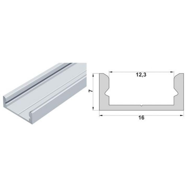 Профіль алюмінієвий прямий LED П7 2м білий