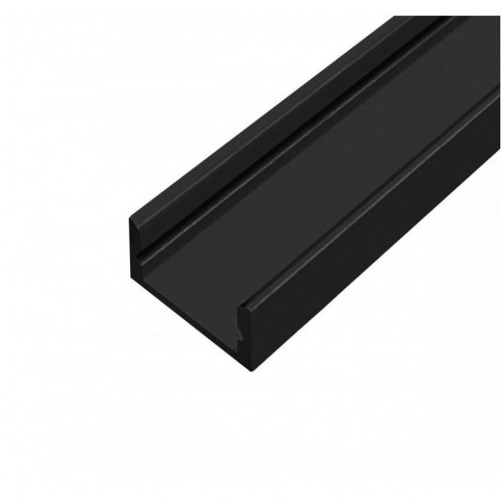 Профіль алюмінієвий прямий LED П7 2м чорний
