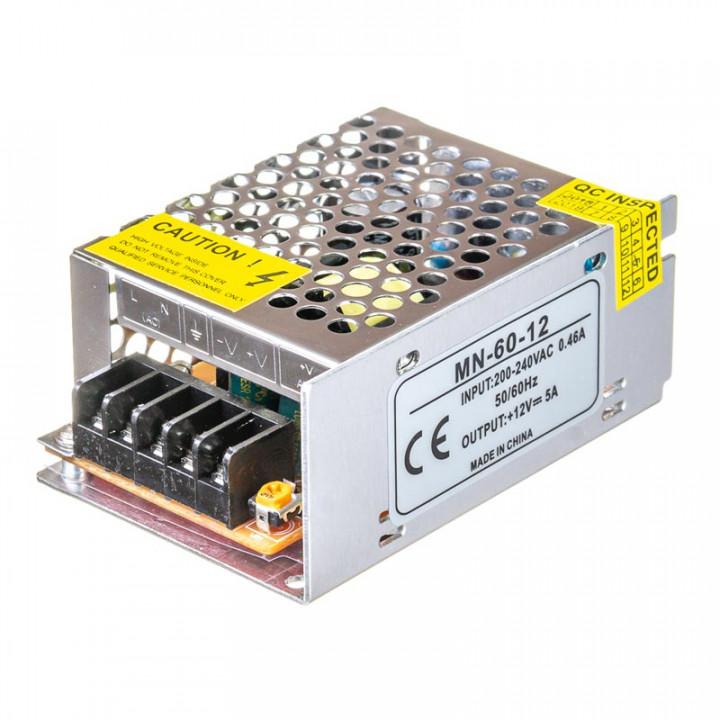 Блок живлення MN-60-12, 12V, 5A,1013424, 1019171