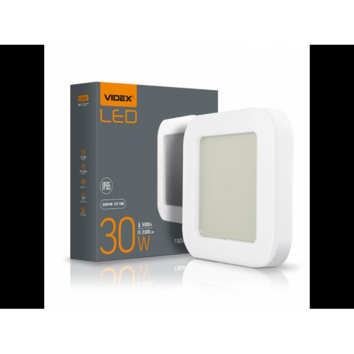Світильник світлодіодний Videx ART(ЖКХ) квадратний 30W 5000K 220V IP65  (299143)