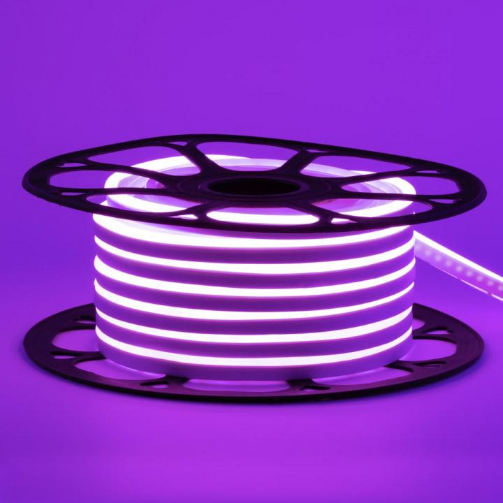 #54, Стрічка світлодіодна NEON 2835PP120 12V 6W, фіолетовий,  IP65, 6-12mm  AVT St-54, 1018086