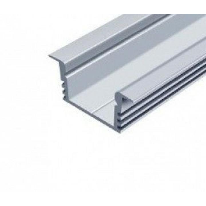 Профіль алюмінієвий прямий врізний анод.  ЛПВ12, 2м   LPV-12 A (глиб.)