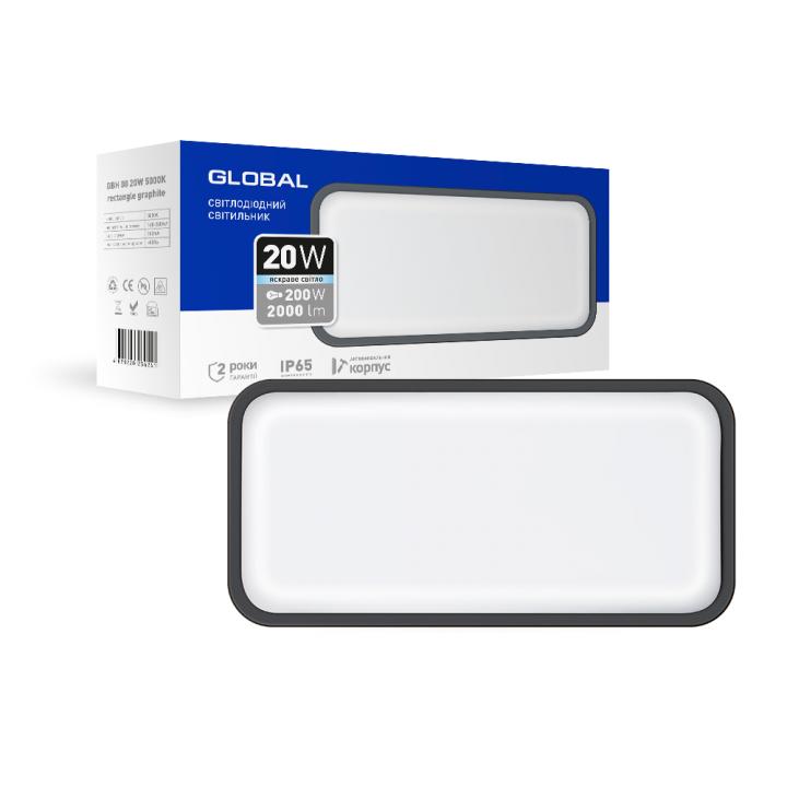 Світильник світлодіодний GlobalLED 20W 5000K, R 295x146