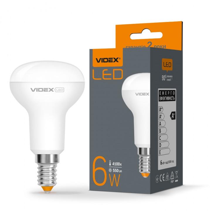 Лампа світлодіодна Videx R50e 6W E14 4100K 220V, 294131