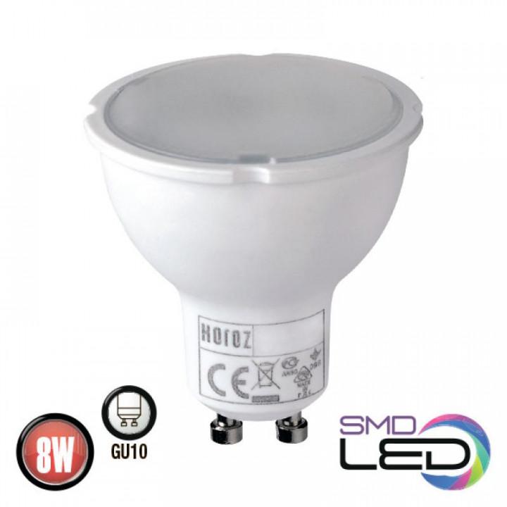 Лампа світлодіодна Horoz Plus-8 MR16 8W 3000K 220V GU10, 001-002-0008-021