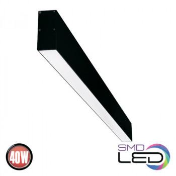 Світильник лінійний світлодіодний Horoz INNOVA5-40 ЧОРНИЙ 40W 50*1185мм 4000К