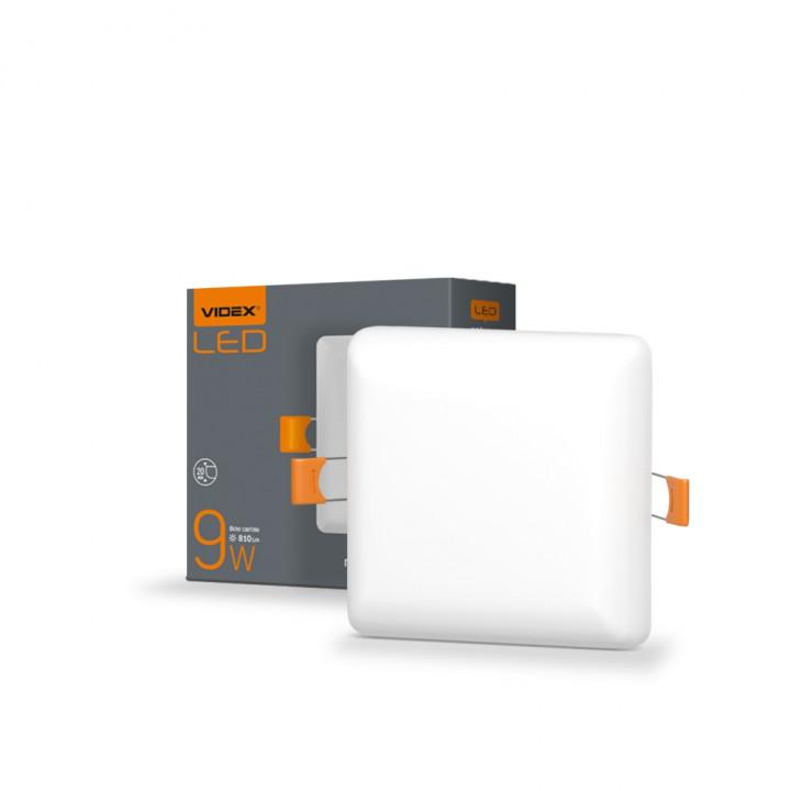 Світильник безрамковий квадратний Videx VL-DLFS-094 9W 4100К 91x91мм 810Lm, (298146)