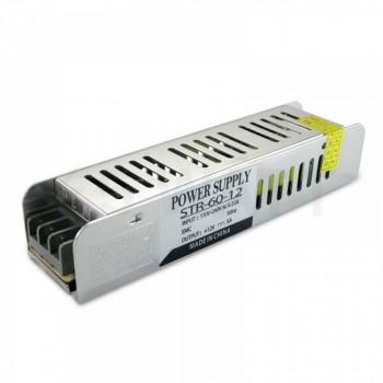 Блок живлення Biom STR-60-12, 12V, 5A вузький, (STR-60)