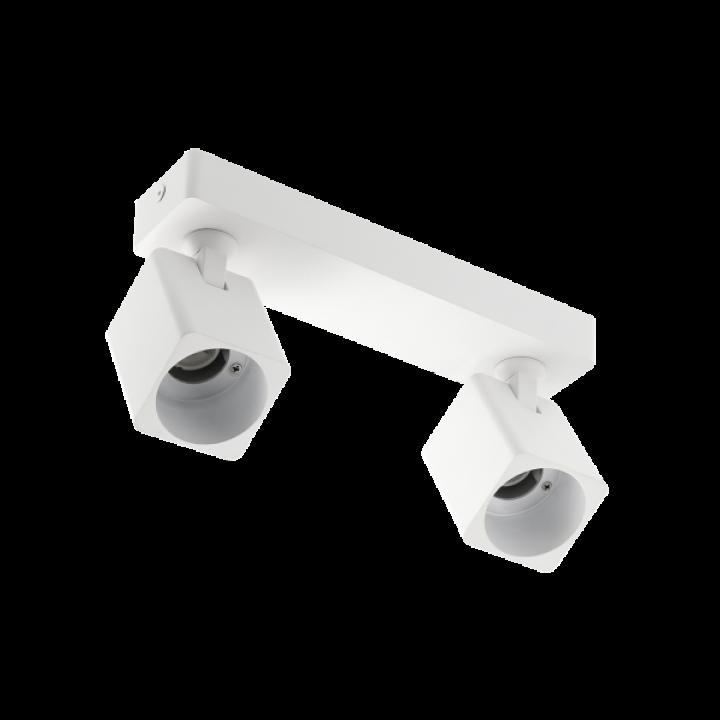 Світильник GTV RENO, алюміній, GU10, IP20, max. 20W*2,подвійний КВАДРАТ БІЛИЙ LD-REN20WKW2-10