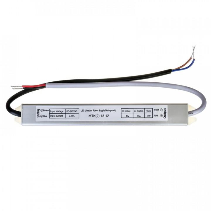 Блок живлення герметичний 18W, 12V, 1.5A IP67 slim 1013363