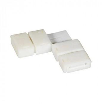Конектор для світлодіодних стрічок OEM SC-20-SS-10-2, 10mm 2 затискача+плата кут
