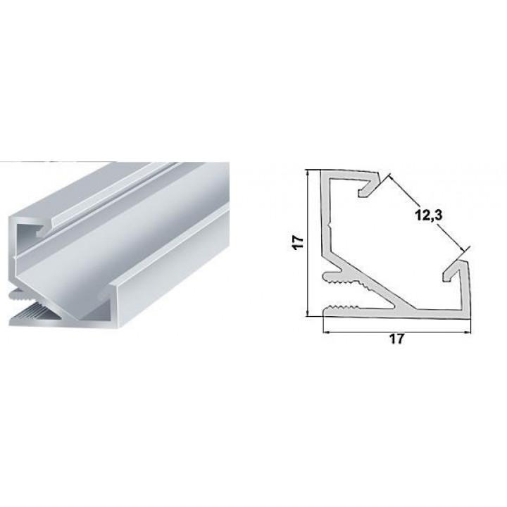 Профіль алюмінієвий кутовий LED ЛПУ-7W 2м білий