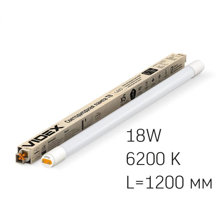 Лампа світлодіодна Videx T8 1200 18W 6200K  291925