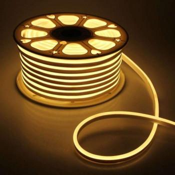 #52, Стрічка світлодіодна NEON 2835WW120 220V 12W,  IP65, 6mm, 1017892