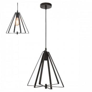 Світильник підвісний метал Horoz MAXWELL, Е27 чорний, 021-012-0001