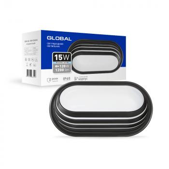 Світильник світлодіодний GlobalLED 1-GBH-06-1550-E, 15W 5000K